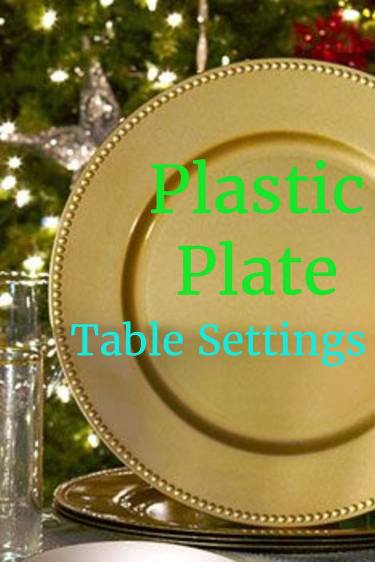 table settings with gold heavy duty plastic plates for the holidays and special occasions looks