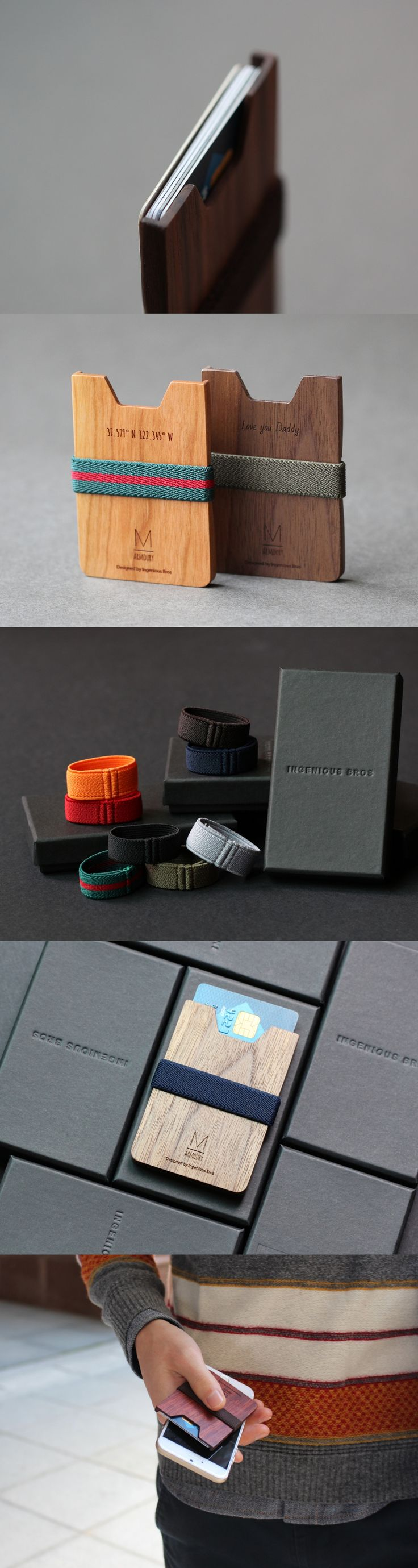Simple wooden card wallet designed by IngeniousBros