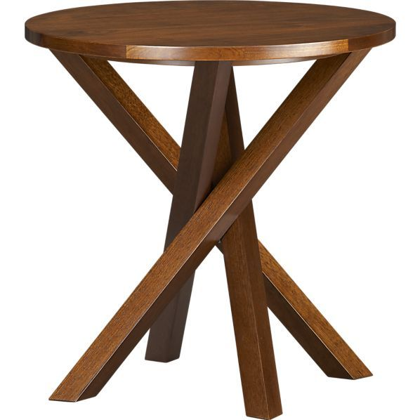 Twist Table In Side Coffee Tables Crate And Barrel I Bet I Could Make This For Way Less