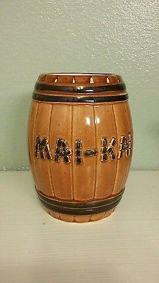 TIKI-MAI-KAI-RUM-BARREL-Mug-Cup-Drink-Hawaiian-Party-RARE