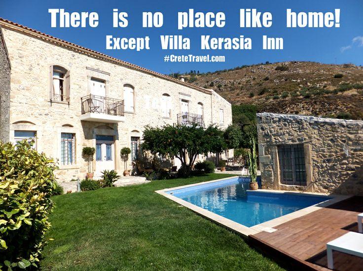 Our Home ... Your #Home. Villa Kerasia Inn, Vlahiana, Heraklion, Crete http://www.cretetravel.com/hotel/villa-kerasia-inn