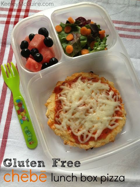 Mini Chebe pizza packed for lunch!