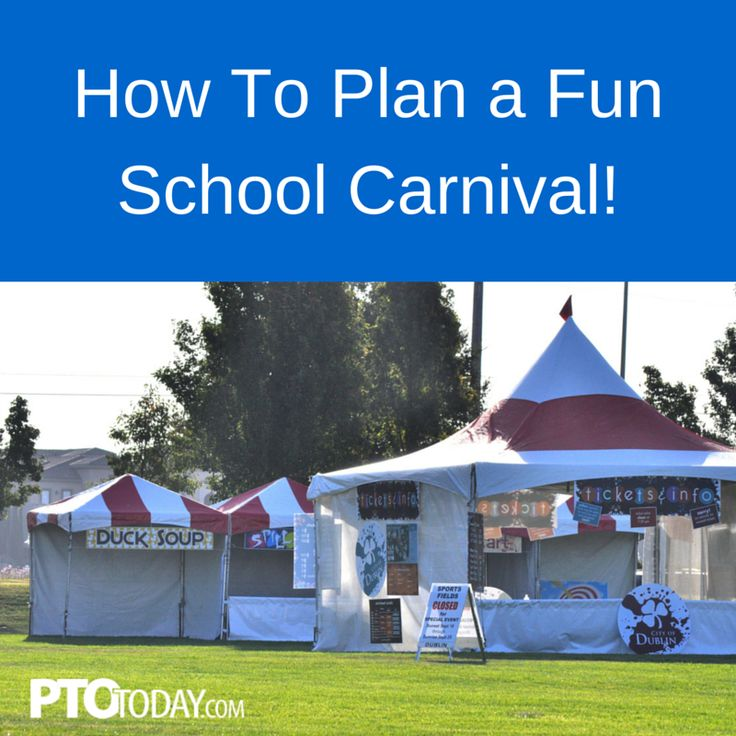 Tips and ideas for school carnival planning for your parent group, PTO, PTA.