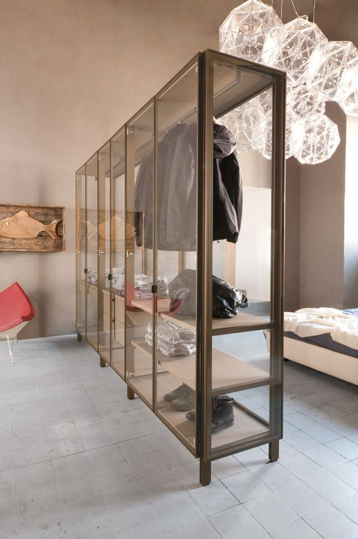 Glass walk-in #wardrobe SOLO Solo Collection by ALBED by Delmonte