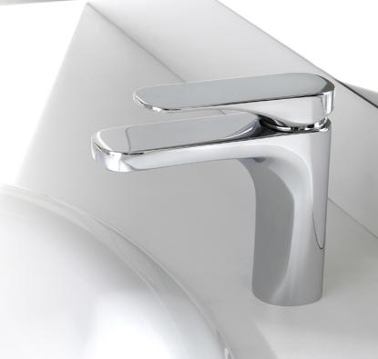 """Carlo Frattini Quad F3721    Waschtischbatterie  • n. 2 Flexschläuche 350 mm  • Ablaufgarnitur 1"""" 1/4 mit Überlauf"""