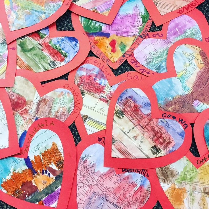 """44 Likes, 3 Comments - Laura King (@kindergartenteachertired) on Instagram: """"Our watercolour Ottawa scene valentines are ready to be mailed! The kids are so excited for the…"""""""