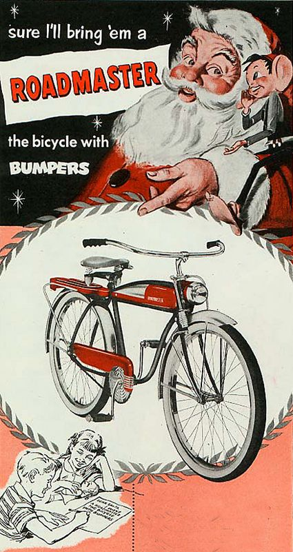 Roadmaster:The bicycle with bumpers - Vintage ad