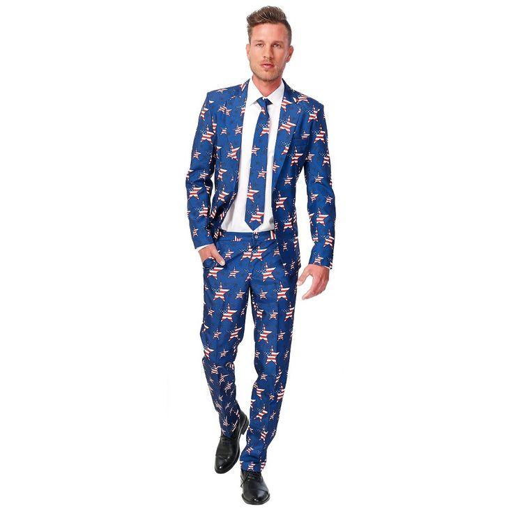 Men's American Flag Suit Costume