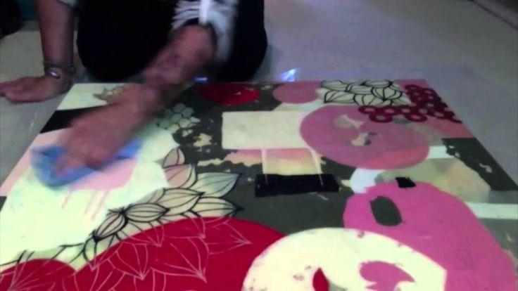 Acrylic Painting - Cold wax varnish