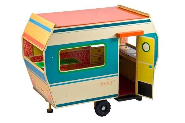 retro toy caravan