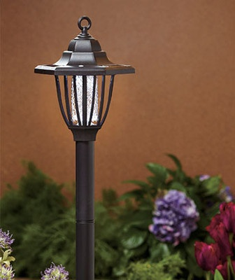 Solar Lamp U0026 Bug Zapper Yard Stake Outdoor Lawn Deck Porch Patio Light Art  Decor