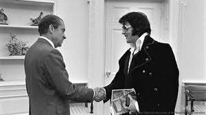 On December 21, 1970, Elvis Presley paid a visit to President Richard M. Nixon at the White House in Washington, D.C