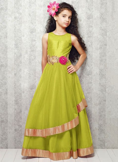 Green Party Dress for Girls