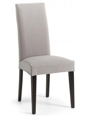 Elegante e molto comoda sedia in tessuto sfoderabile nei colori: marrone, grigio chiaro o blu. Resistente e robusta, con gambe in legno nero. Bella e di design, meravigliosa e raffinata, perfetta per ogni tipo di arredo, dal classico al moderno.