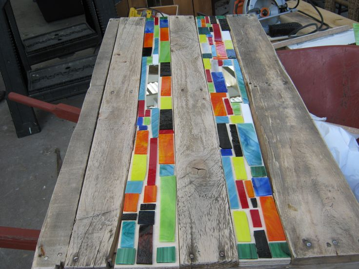 Mosaic pallet table #Furniture, #Pallets, #Table