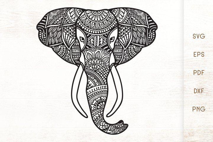 Elephant Head Zentangle Elephant Doodle Art Svg 782464 Illustrations Design Bundles Zentangle Elephant Elephant Doodle Doodle Art