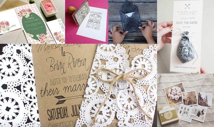 DIY: 7 idéer til bryllupsinvitationer du selv kan lave - ALT.dk