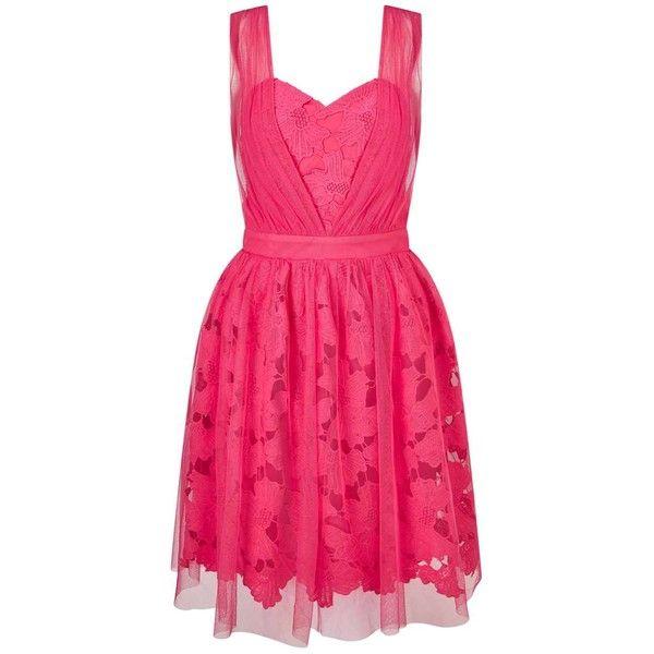 Miss Selfridge Pink Lash Mesh Dress ($68) ❤ liked on Polyvore featuring dresses, pink, pink mesh dress, miss selfridge dresses, mesh dress, pink dress and miss selfridge