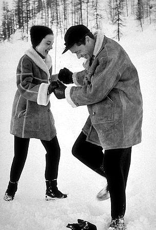 Audrey Hepburn and husband Mel Ferrer