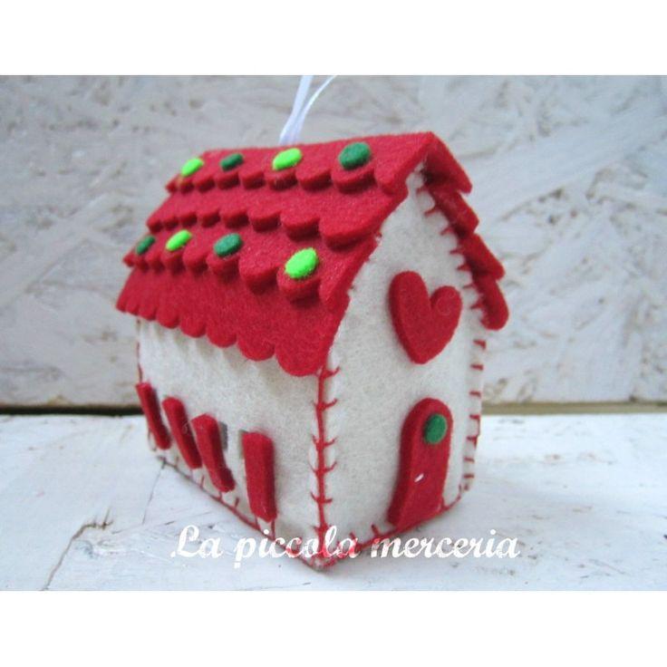 Kit per realizzare casetta Natale forme pretagliate albero di Natale decorazione