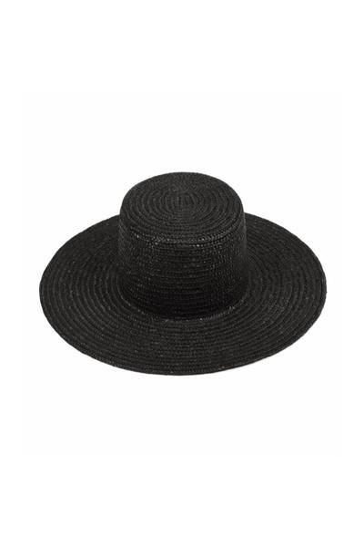 This straw boater is one of Lack of Color's newest styles. Features a high crown made of 100% natural woven wheat straw. If the hat becomes bent out of shape ov