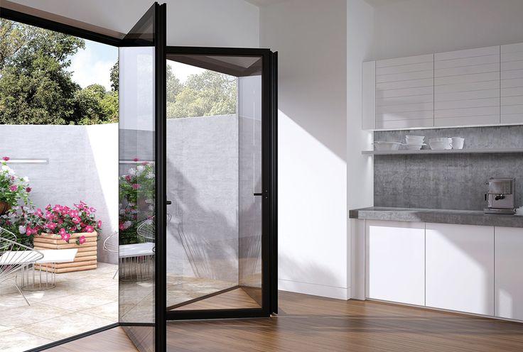 Flush Glazed, Frameless Glass Bi Fold With Aluminium | The Folding Sliding  Door Company | Kitchen Ideas | Pinterest | Doors, Glass And Folding Sliding  Doors