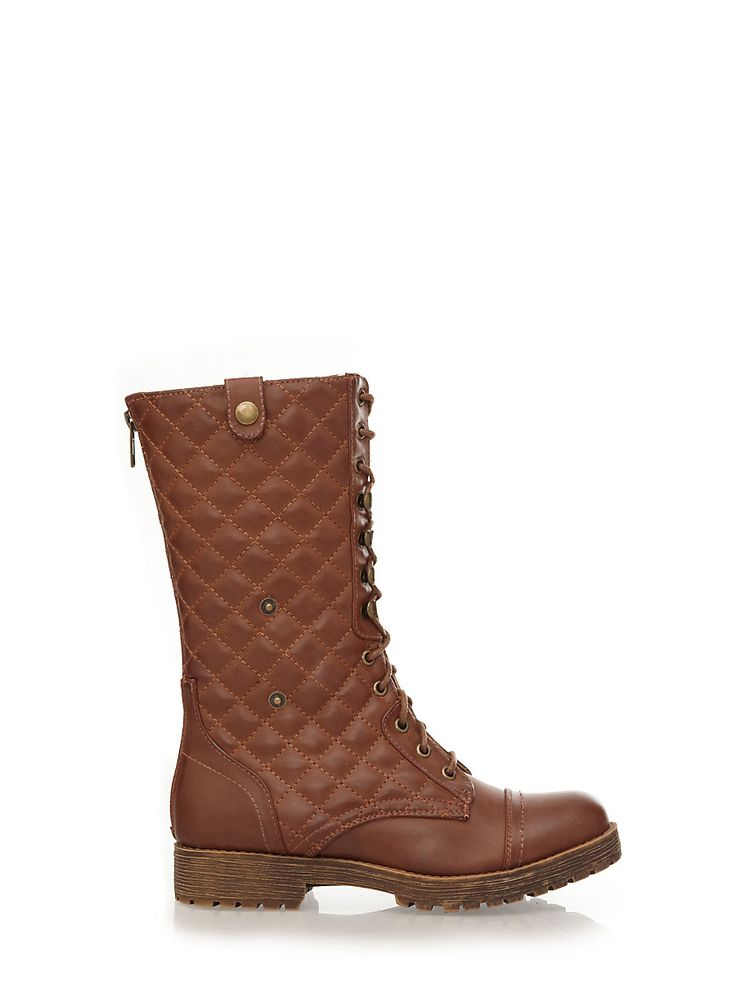 Rainbow Shops Quilted Boots with Convertible Cuff and Piled Lining $34.99