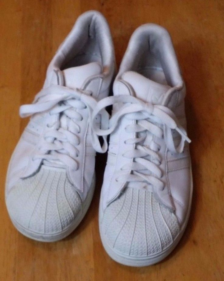 competitive price 33f54 cc3c9 ... Adidas Originals Superstar 2 II All White Leather Sneakers Unisex Shoes  Size 5.5 ...