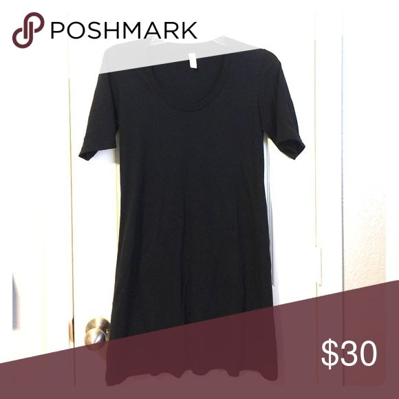 American apparel black Tshirt dress Black stretchy t-shirt dress. Worn once. Great condition American Apparel Dresses Mini