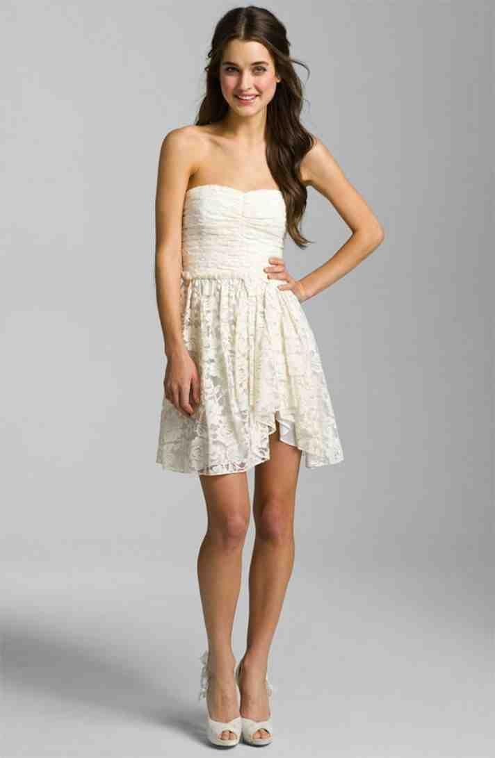 wedding reception dress for bride little white