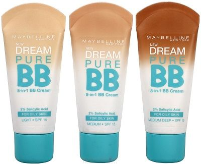 Maybelline BB Cream helps with acne if used consistently.  Use under my Dream Matte Mousse or Dream Velvet foundation!
