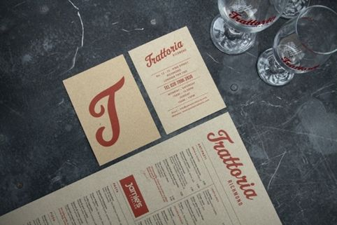 Trattoria Richmond stationery