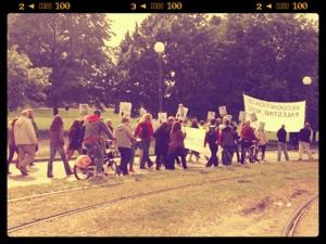 Dagens demo mot Hillary Clinton ( eller USAs utenrikspolitikk) (Taken with GifBoom)