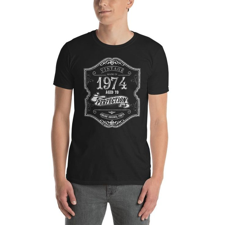 Vintage 44 yrs years old Born in 1974 Birthday TShirt