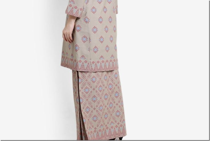 Need a baju raya idea? Check this out: Modern kurung in songket prints!