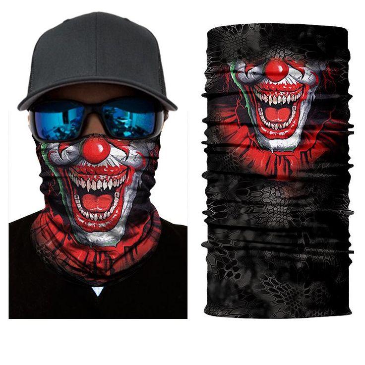 Buy Wallmart.win Bandana Headband Seamless Skull Skeleton Joker Clown Balaclava Tube Neck Face Mask Scarf Motorcycle: Vendor: DW Type:…