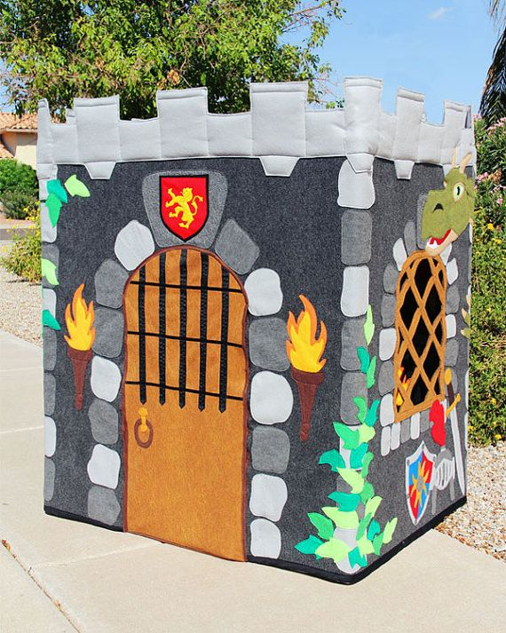"""Knight's Castle Playhouse (35""""x45""""x48"""" Made to Order - Fabric Playhouse Fits PVC Frame You Make)"""