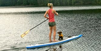 Paddle board rentals are a fun and relaxing way to enjoy the water! #ridemontana