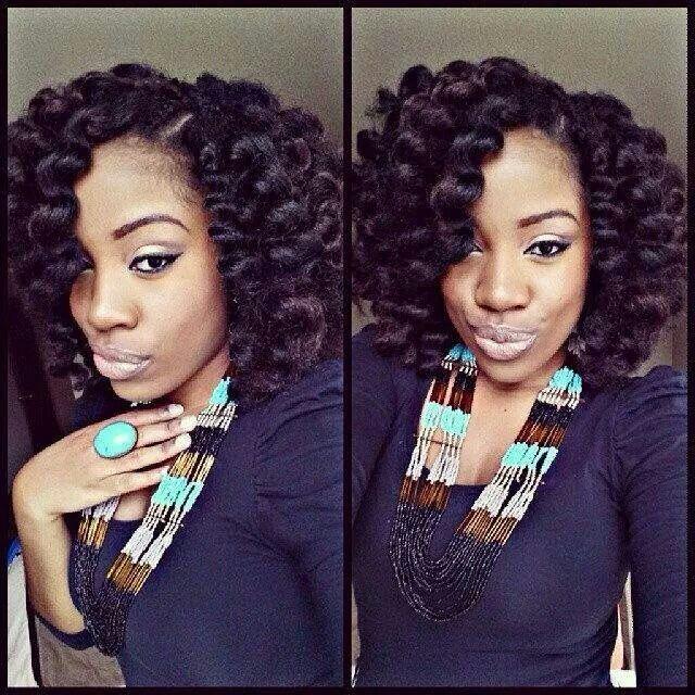 Crochet Braids with Marley Hair Bantu Knots