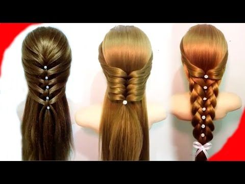 7 Easy Hairstyles for Long Hair 🌺 Best Hairstyles for Girls - YouTube
