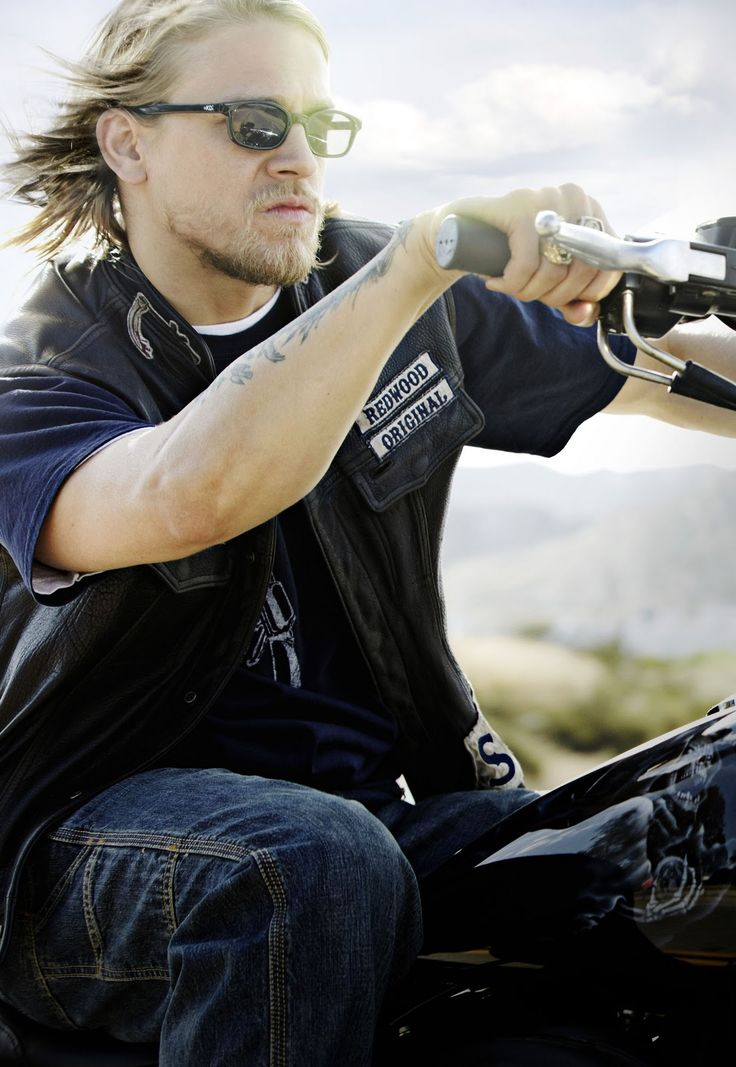 Charlie Hunnam as Jax on Sons of Anarchy