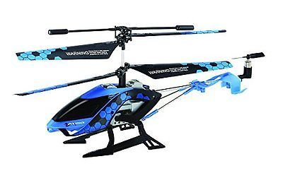 -NEW-Sky Rover Stalker, 3 Channel IR Gyro Helicopter, Blue Vehicle free shipping