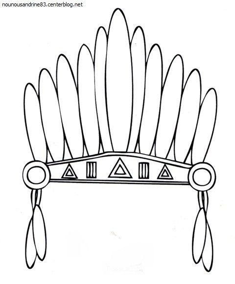 assistante maternelle toulon ouest nounou toulon coiffe indienne 6 continents : amérique coiffe indienne à imprimer