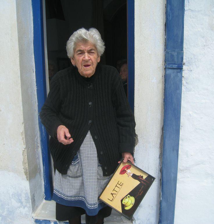 TINOS  Arnados village woman who runs a cafe