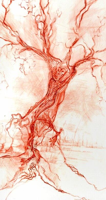 Life tree - pencil drawing