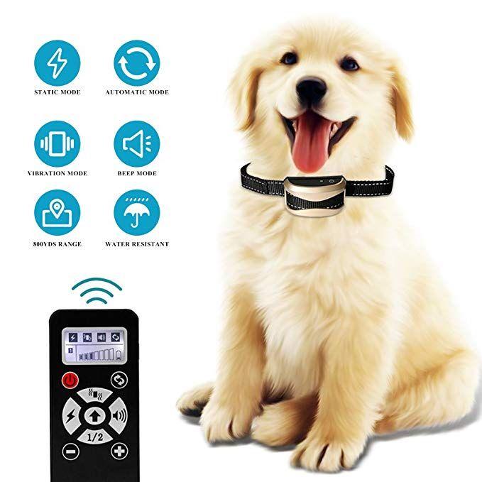 Highwinner Dog Training Collar 2 In 1 Automatic Anti Bark Collar