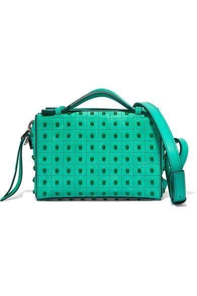 Tod's - Bauletto Embellished Suede Shoulder Bag - Mint - one size