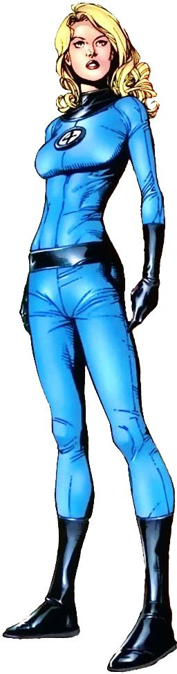 The Invisible Woman, Susan Richards of the Fantastic Four.
