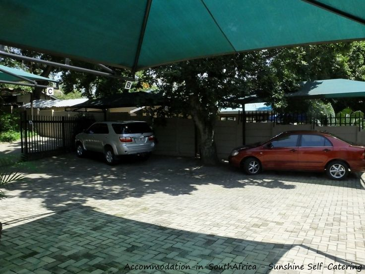 Undercover parking at Sunshine Self Catering. http://www.accommodation-in-southafrica.co.za/Mpumalanga/Nelspruit/SunshineSelfCatering.aspx