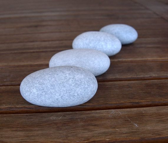 4 Big Egg StonesBeach StonesSea StonesEgg by PebblesAndWoods